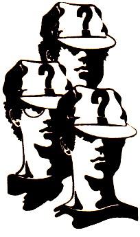 Dieses Bild begleitete die Fingerzeige von Justus, Bob und Peter in der ersten Auflage des »Narbengesichts«.
