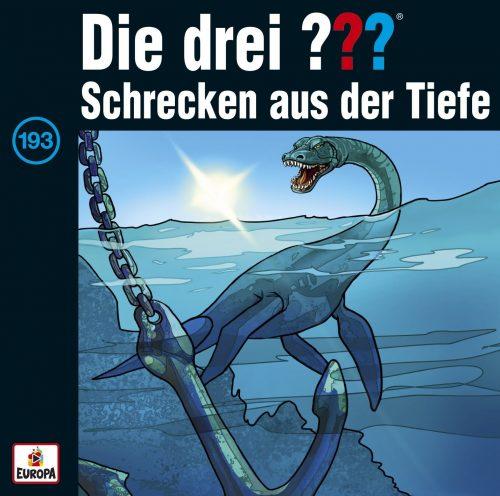 Darstellung des CD-Covers von Folge 193: Die drei ??? – Schrecken aus der Tiefe.